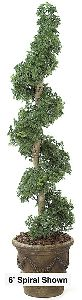 Artificial Topiary Trees, Spiral Topiary, 5 feet   Ming Aralia Spiral Topiary
